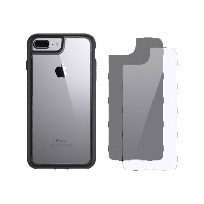 Griffin GB42900 Survivor Adventure - Back cover for cell phone - polycarbonate  thermoplastic polyurethane - clear  smoke - for Apple iPhone 7 Plus