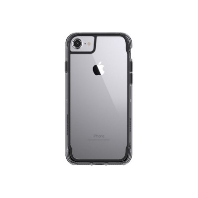 Griffin GB42310 Survivor Clear - Back cover for cell phone - polycarbonate  thermoplastic polyurethane - smoke - for Apple iPhone 6  6s  7
