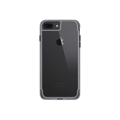Griffin GB42318 Survivor Clear - Back cover for cell phone - polycarbonate  thermoplastic polyurethane - space gray - for Apple iPhone 6 Plus  6s Plus  7 Plus