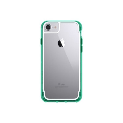 Griffin GB42712 Survivor Clear - Back cover for cell phone - polycarbonate  thermoplastic polyurethane - green  clear - for Apple iPhone 6  6s  7