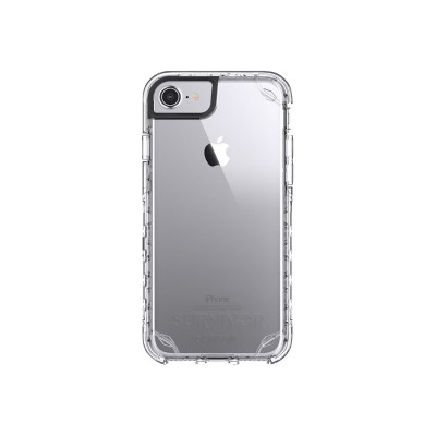 Griffin GB42881 Survivor Journey - Back cover for cell phone - rugged - polycarbonate  thermoplastic polyurethane - clear - for Apple iPhone 6  6s  7