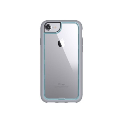Griffin GB42897 Survivor Adventure - Back cover for cell phone - polycarbonate  thermoplastic polyurethane - clear  chromic blue - for Apple iPhone 6  6s  7