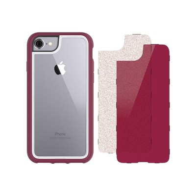 Griffin GB42898 Survivor Adventure - Back cover for cell phone - polycarbonate  thermoplastic polyurethane - cherry black  bonbon glitter - for Apple iPhone 6