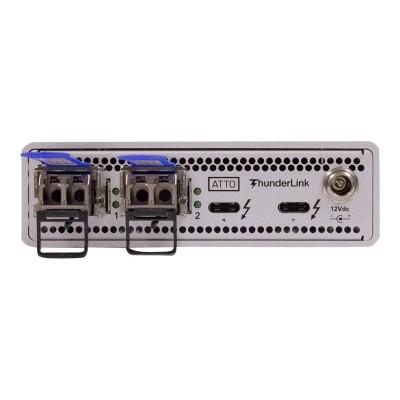 ATTO TLNS-3102-D00 ThunderLink NS 3102 - Network adapter - Thunderbolt 3 - 10 Gigabit SFP+ x 2