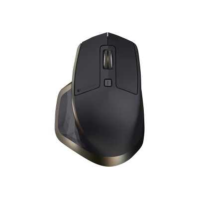 Logitech 910-004956 MX Master - Mouse - laser - 7 buttons - wireless - Bluetooth  2.4 GHz - USB wireless receiver - stone
