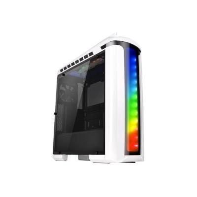 ThermalTake CA-1G9-00M6WN-00 Versa C22 RGB - Snow Edition - mid tower - ATX - no power supply (PS/2) - black and white - USB/Audio