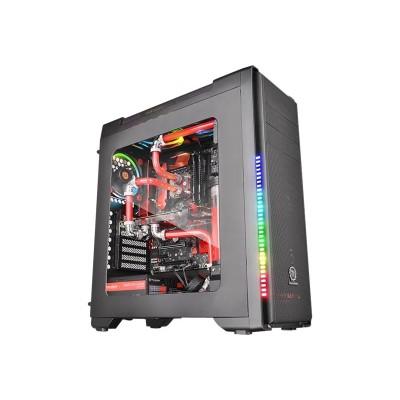 ThermalTake CA-1G8-00M1WN-00 Versa C21 RGB - Mid tower - ATX - no power supply (PS/2) - black - USB/Audio