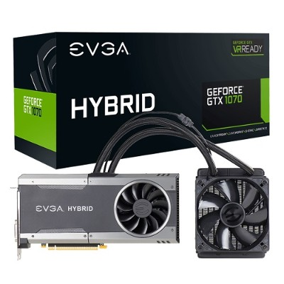 Evga 08G-P4-6278-KR GeForce GTX 1070 FTW HYBRID GAMING - Graphics card - GF GTX 1070 - 8 GB GDDR5 - PCIe 3.0 x16 - DVI  HDMI  3 x DisplayPort