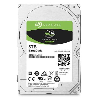 Seagate ST5000LM000 5TB Barracuda Sata 6GB/s 128MB Cache 2.5-Inch 15mm Internal Bare/OEM Hard Drive