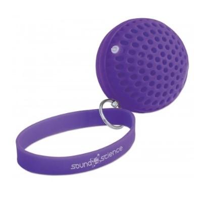 Manhattan 162326 Sound Science Atom Glowing Bluetooth Speaker - Purple