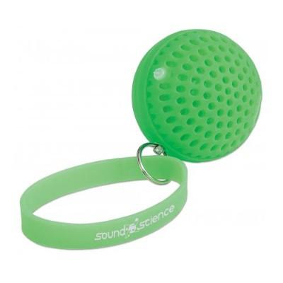 Manhattan 162364 Sound Science Atom Glowing Wireless Speaker - Green