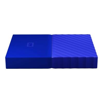 WD WDBYFT0020BBL-WESN WD My Passport WDBYFT0020BBL - Hard drive - encrypted - 2 TB - external (portable) - USB 3.0 - 256-bit AES - blue