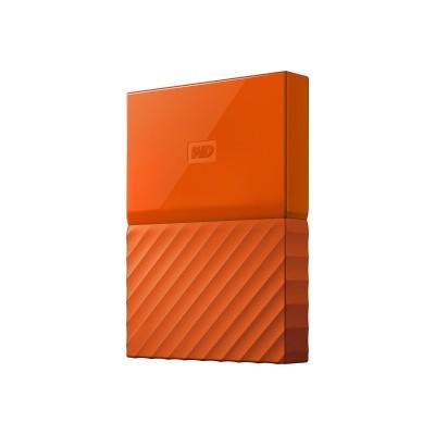 WD WDBYFT0020BOR-WESN WD My Passport WDBYFT0020BOR - Hard drive - encrypted - 2 TB - external (portable) - USB 3.0 - 256-bit AES - orange