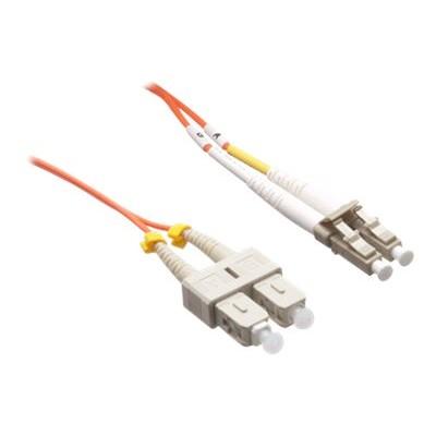 Axiom Memory LCSCMD5O-40M-AX Network cable - LC multi-mode (M) to SC multi-mode (M) - 131 ft - fiber optic - 50 / 125 micron - OM2 - riser - orange