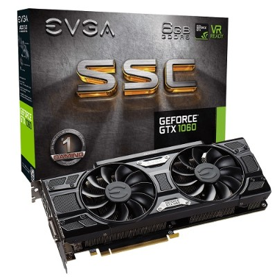 Evga 06G-P4-6267-KR NVIDIA GeForce GTX 1060 SSC GAMING ACX 3.0