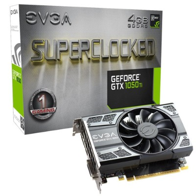 Evga 04G-P4-6253-KR GeForce GTX 1050 Ti SC Gaming - Graphics card - GF GTX 1050 Ti - 4 GB GDDR5 - PCIe 3.0 x16 - DVI  HDMI  3 x DisplayPort