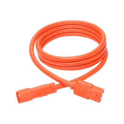 TrippLite P005-006-AOR 6ft Heavy Duty Power Extension Cord 15A 14 AWG C14 C13 Orange 6' - Power extension cable - IEC 60320 C14 to IEC 60320 C13 - 6 ft - orange
