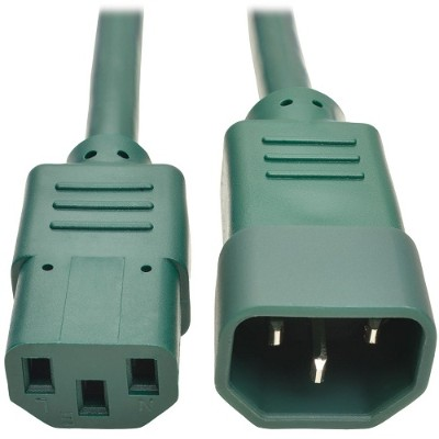 TrippLite P004-006-AGN 6ft Computer Power Extension Cord 10A 18 AWG C14 to C13 Green 6' - Power extension cable - IEC 60320 C14 to IEC 60320 C13 - 6 ft - green
