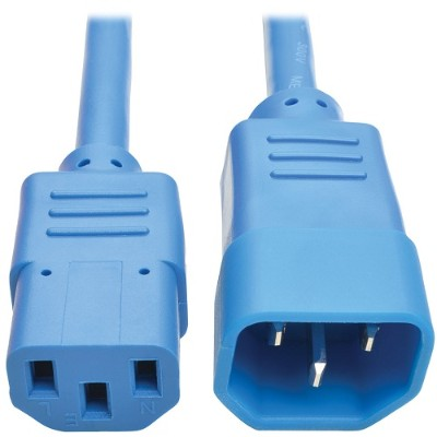 TrippLite P004-006-ABL 6ft Computer Power Extension Cord 10A 18 AWG C14 to C13 Blue 6' - Power extension cable - IEC 60320 C14 to IEC 60320 C13 - 6 ft - blue