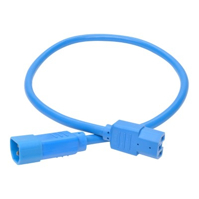 TrippLite P018-002-ABL Heavy-Duty Power Extension Cord 15A 14 AWG C14 to C15 - Power extension cable - IEC 60320 C14 to IEC 60320 C15 - 2 ft - blue