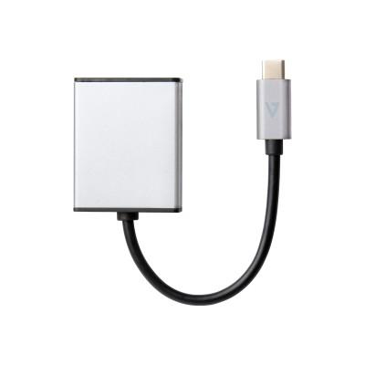 V7 V7UCDP-ALUGR-1NC External video adapter - USB Type-C - DisplayPort - black  aluminum gray