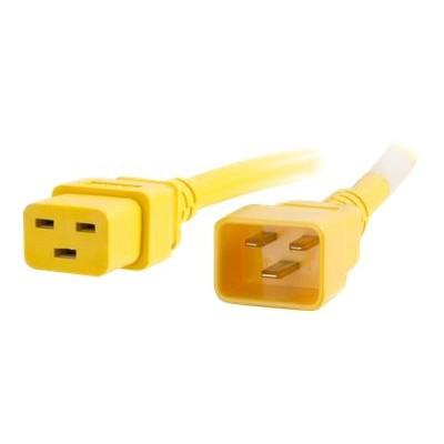 Cables To Go 17736 Power cable - IEC 60320 C20 to IEC 60320 C19 - AC 250 V - 20 A - 5 ft - yellow