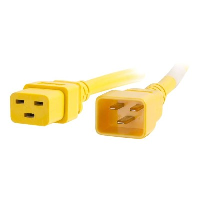 Cables To Go 17712 Power cable - IEC 60320 C20 to IEC 60320 C19 - 250 V - 20 A - 1 ft - yellow