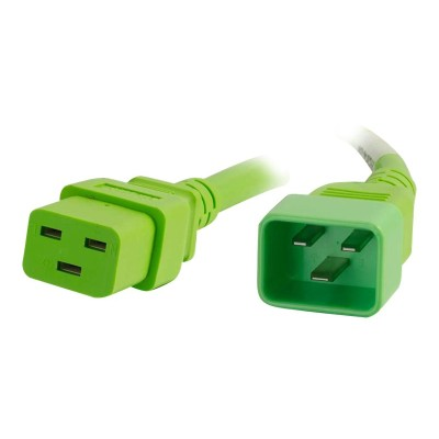 Cables To Go 17723 Power cable - IEC 60320 C20 to IEC 60320 C19 - 250 V - 20 A - 3 ft - green