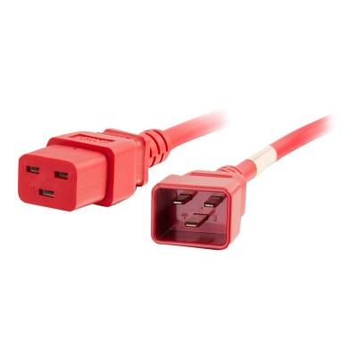 Cables To Go 17715 Power cable - IEC 60320 C20 to IEC 60320 C19 - 250 V - 20 A - 2 ft - red
