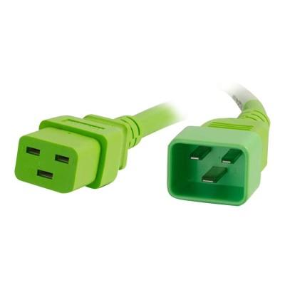 Cables To Go 17735 Power cable - IEC 60320 C20 to IEC 60320 C19 - 250 V - 20 A - 5 ft - green