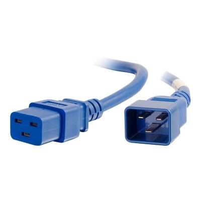 Cables To Go 17714 Power cable - IEC 60320 C20 to IEC 60320 C19 - 250 V - 20 A - 2 ft - blue