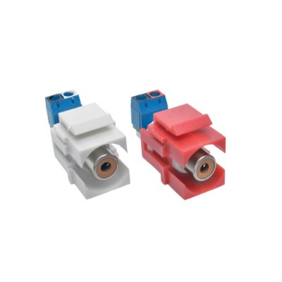 TrippLite A050-000-ST-KJ RCA Female Audio to Screw Terminal Keystone Jack Kit Red/White