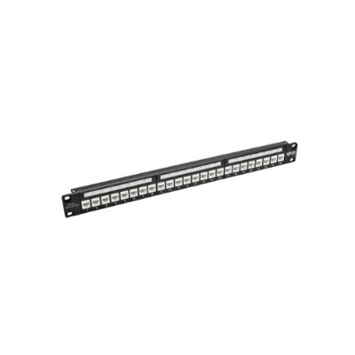 TrippLite N254-024-6AD 24-Port Cat6a Feedthrough Patch Panel w/ Down-Angled Ports 1URM