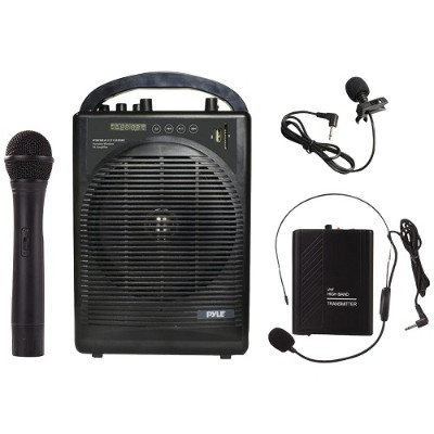 Pyle PWMA1216BM Portable Amp & Microphone System with Bluetooth