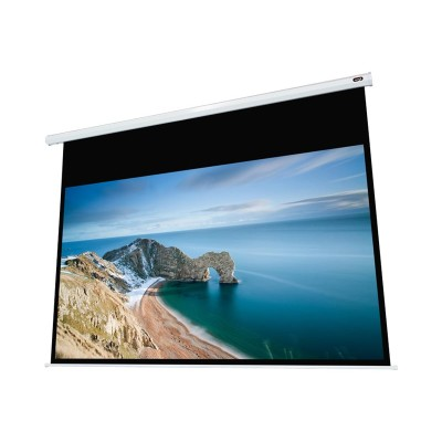 EluneVision EV-J-120-1.2 High Definition Format - Projection screen - ceiling mountable - motorized - 110 V - 120 in (120.1 in) - 16:9 - Cinema White - white