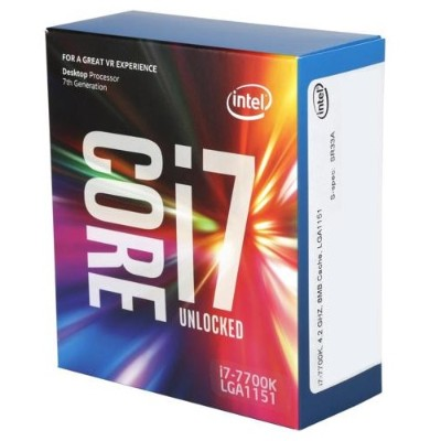 Intel BX80677I77700K Core i7-7700K Kaby Lake Quad-Core 4.2GHz LGA 1151 91W Desktop Processor