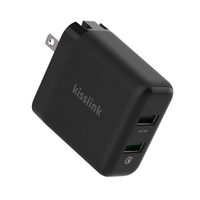 Keewifi KW3210 30W Dual USB Smart Wall Charger - Quick Charge 3.0