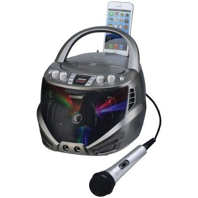 Emerson GQ263 Portable CD+G Karaoke Player with Flashing LED Lights