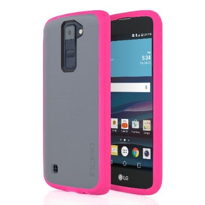 Incipio LGE-306-FTPK Octane Co-Molded Impact Absorbing Case for LG K8 - Frost/Pink