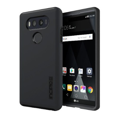 Incipio LGE-311-BLK DualPro Hard Shell Case with Impact Absorbing Core for LG V20 - Black