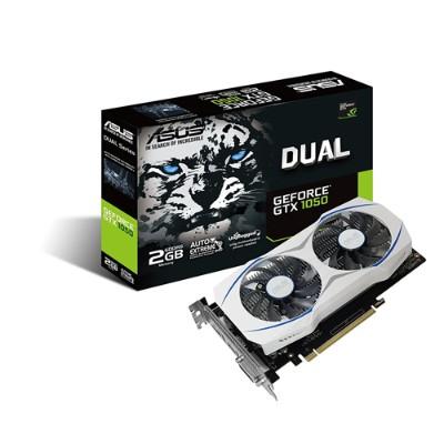 ASUS DUAL-GTX1050-O2G GeForce GTX 1050 2GB Dual-fan Edition DVI-D HDMI DP 1.4 Gaming Graphics Card