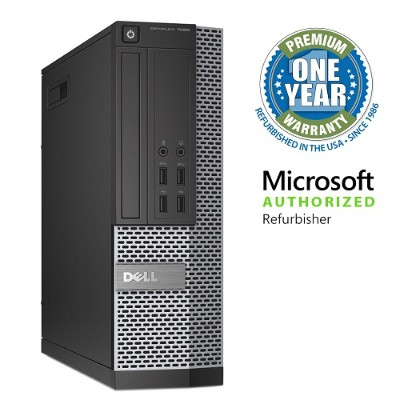 Dell MDE7020I3445010P0 OptiPlex 7020 Intel Core i3-4160 Dual-Core 3.60GHz Small Form Factor Desktop - 4GB RAM  500GB HDD  DVD-ROM  Gigabit Ethernet - Refurbishe