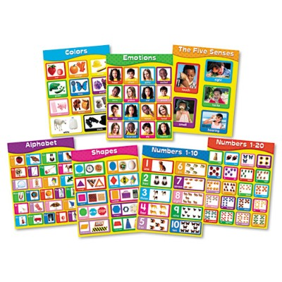 Carson-Dellosa Publishing 144131 Chartlet Set  Early Learning  17 x 22  1 Set