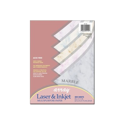 Pacon 101145 Marble - Gray  blue  tan  cherry  lilac - 8.5 in x 11 in - 90 g/m² - 500 sheet(s) bond paper