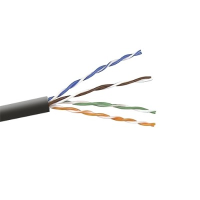 Belkin A7L7041000BK 1 000FT Cat6 Bare Wire - Bare Wire Solid Bulk Cable 4PR/23AWG - Black