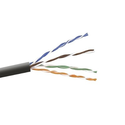 Belkin A7J7041000BK 1 000FT Cat6 Bare Wire - Bare Wire Bulk Cable Stranded - Black