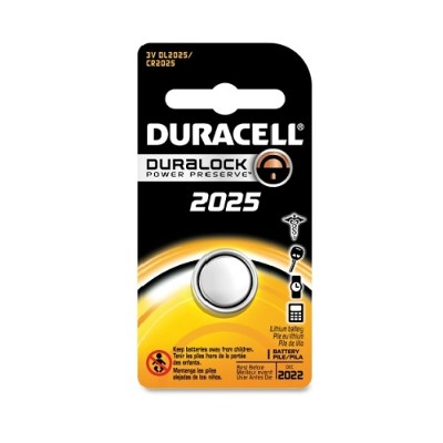 Duracell 66390 2025 Coin Button Lithium Battery 3 Volt DC - 1 Each