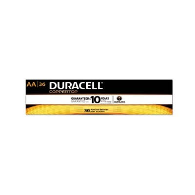 Duracell AACTBULK36 CopperTop Alkaline Batteries with Duralock Power Preserve Technology  AA  36/Pk
