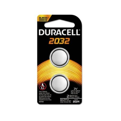 Duracell DL2032B2PK 3 Volt 2-Pack Lithium Medical Battery