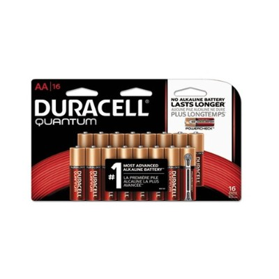 Duracell QU1500B16Z 9 Volt Multipurpose AA Battery - 16/Pack